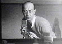 Philip Larkin with camara